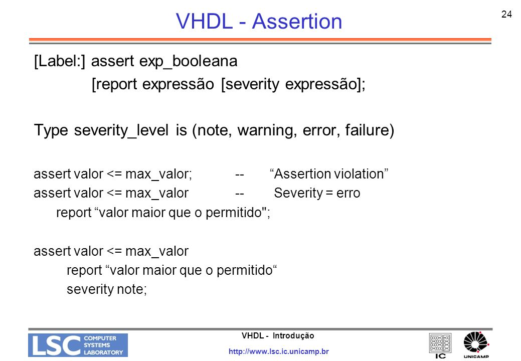 VHDL - Assertion [Label:] assert exp_booleana